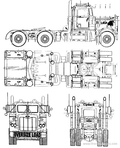 blueprints trucks peterbilt peterbilt 359. Black Bedroom Furniture Sets. Home Design Ideas