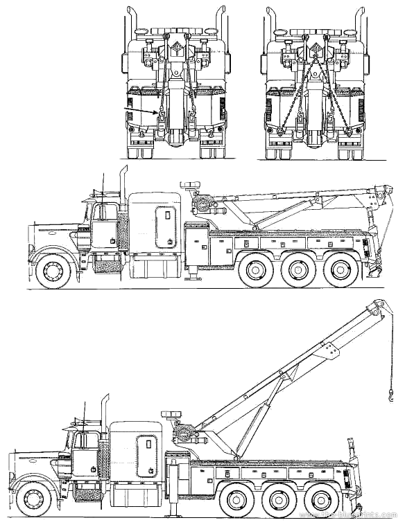 blueprints  u0026gt  trucks  u0026gt  peterbilt  u0026gt  peterbilt 379 wrecker
