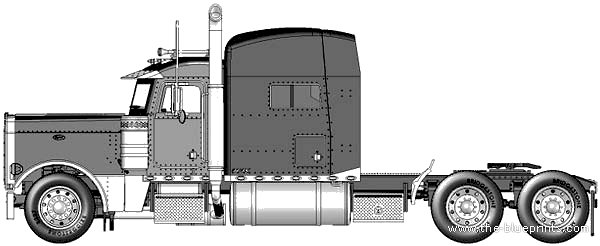 How To Draw Peterbuilt Trucks Pictures to pin on Pinterest