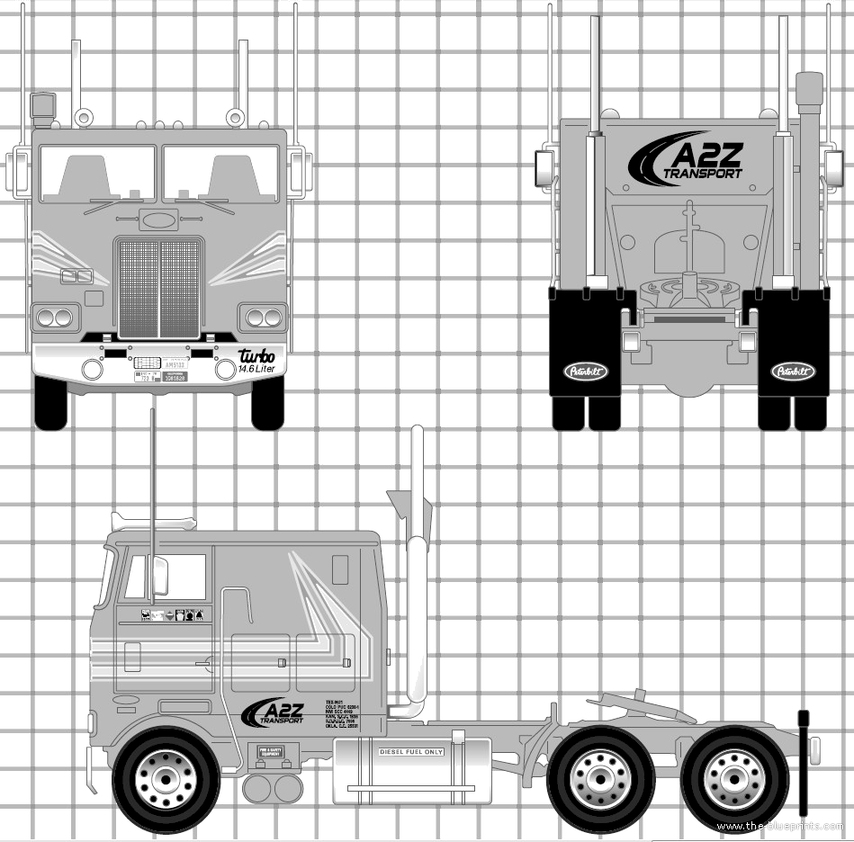The blueprints trucks peterbilt Blueprints for sale