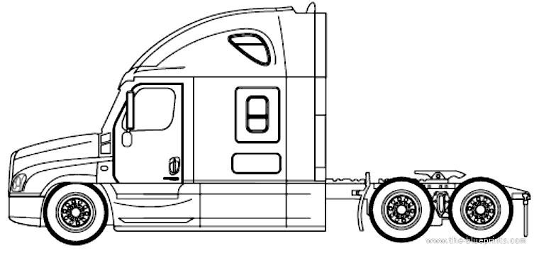 Blueprints trucks trucks freightliner cascadia evolution freightliner cascadia evolution sleeper raised roof 2014 malvernweather Image collections