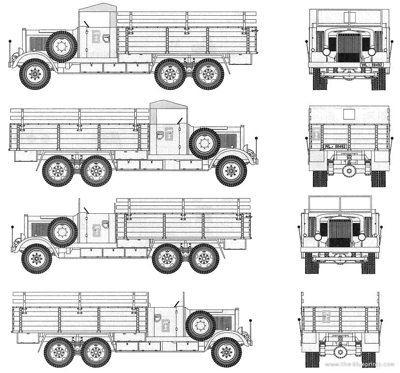 Blueprints trucks trucks mercedes benz lg 3000 6x4 for Mercedes benz under 3000
