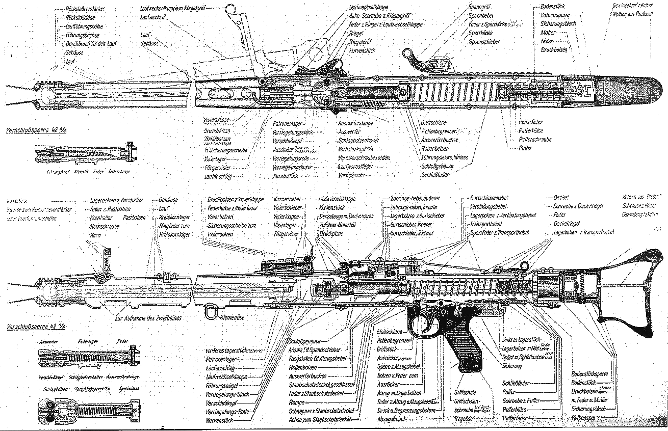 Guns Technical Drawing Mg42 Technical Drawing
