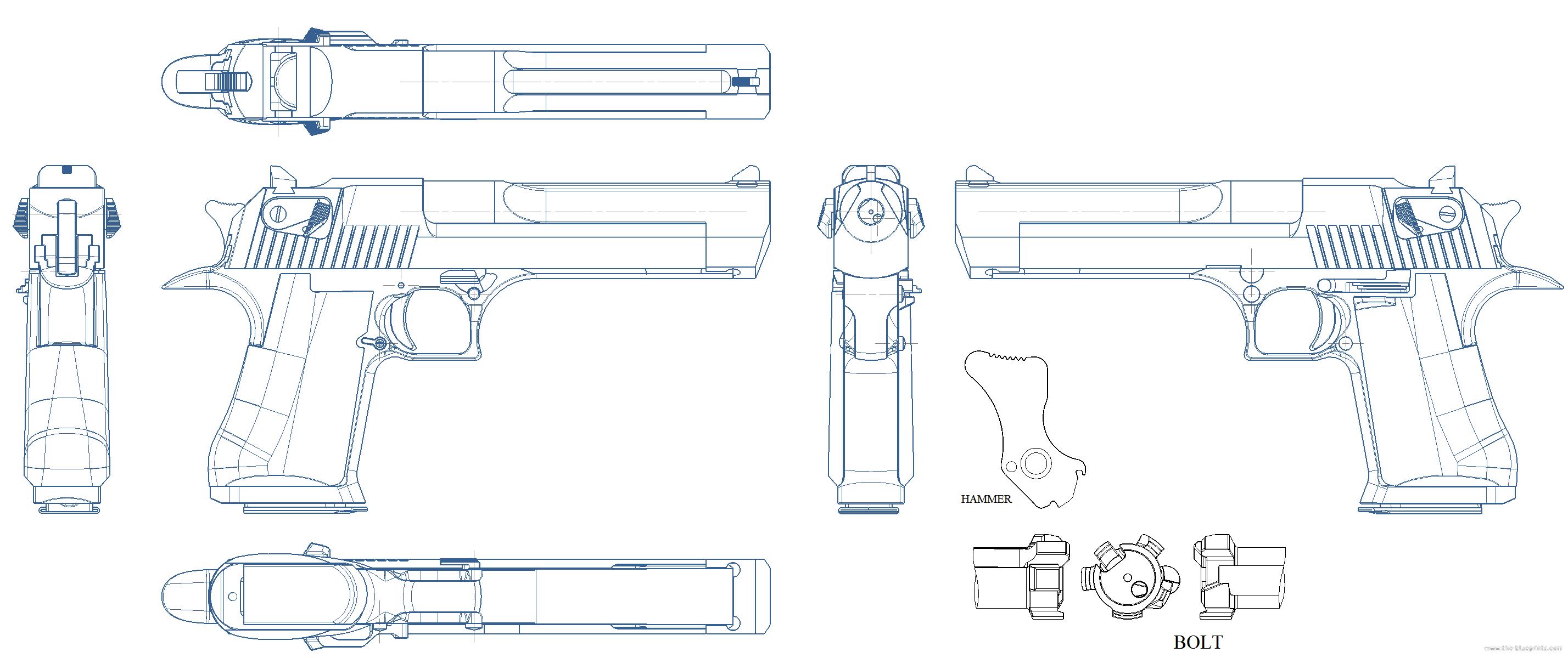 Blueprints weapons pistols desert eagle 44 magnum mk7 desert eagle 44 magnum mk7 malvernweather Choice Image