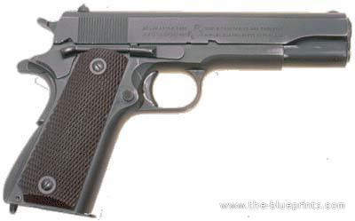 M 1911 The-Blueprints.com - Blueprints > Weapons > Pistols > M 1911 A1