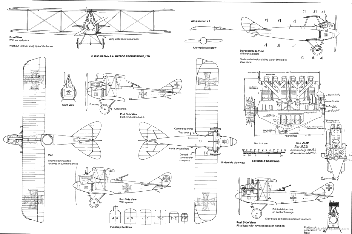 Blueprints Ww1 Airplanes Germany Dfw Civ 1916 Trapdoor Schematic