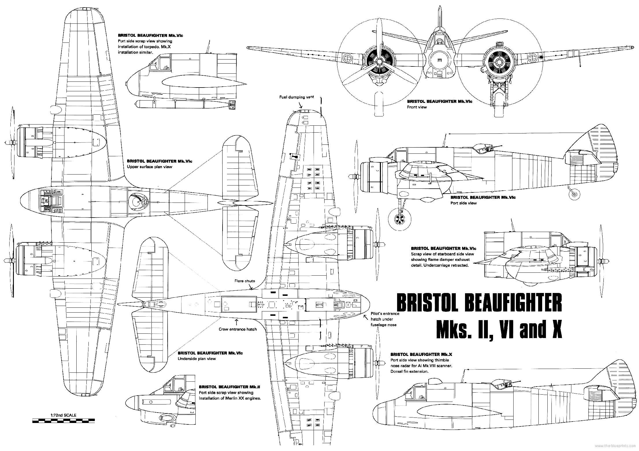 Blueprints ww2 airplanes bristol bristol beaufighter bristol beaufighter malvernweather Image collections