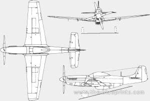 P 51 Mustang Blueprints