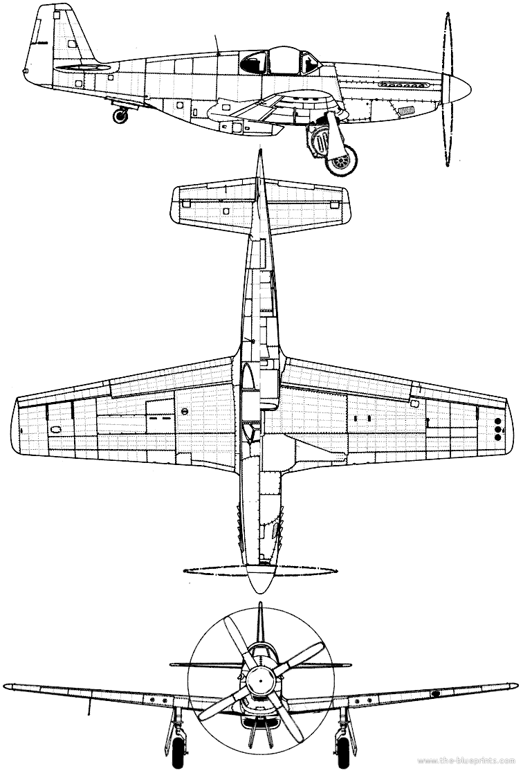 Blueprints ww2 airplanes north american north american p 51b north american p 51b mustang malcolm hood malvernweather Choice Image