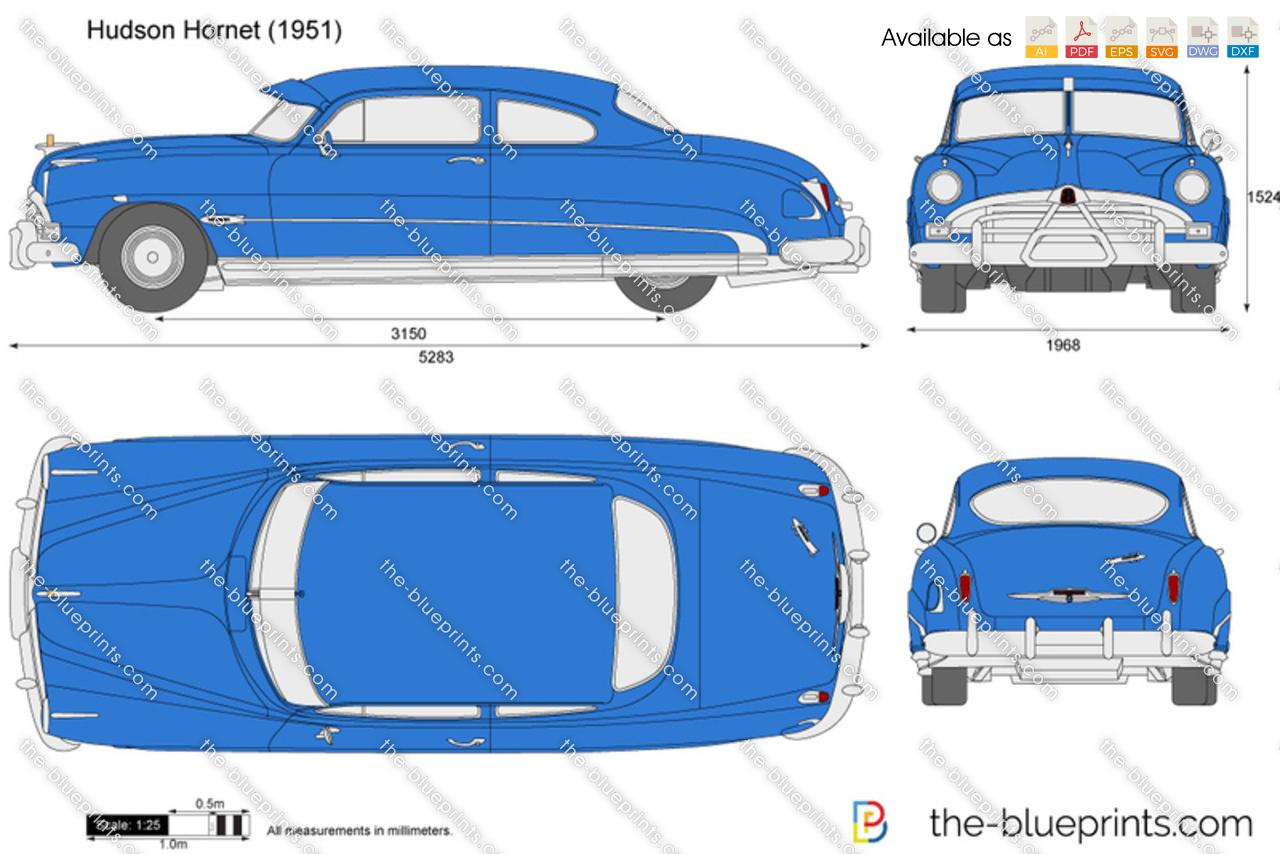 Hudson Hornet vector drawing