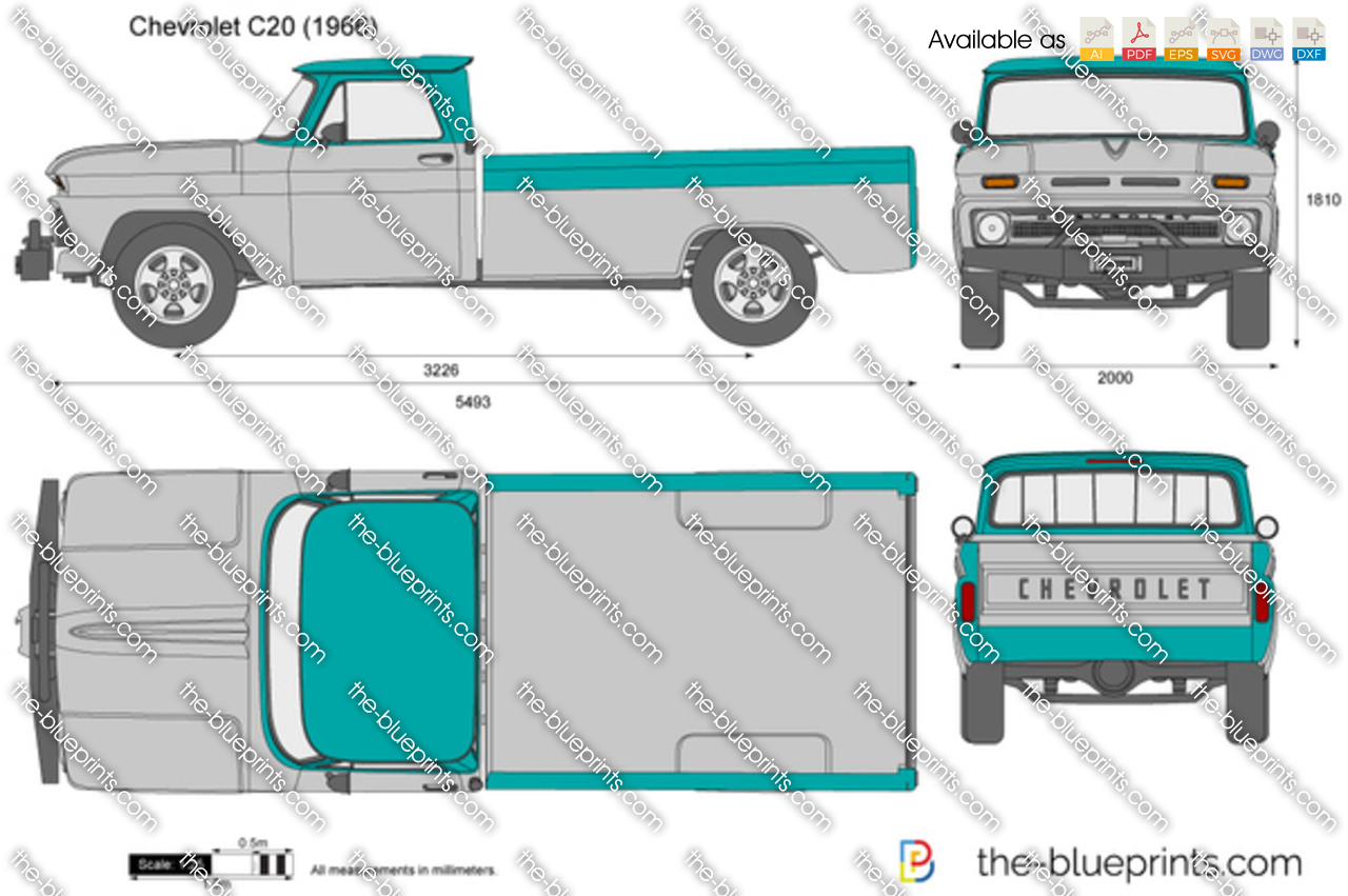 72 Chevy Truck For Sale >> Chevrolet C20 vector drawing