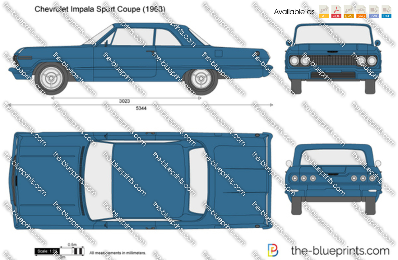 Chevrolet Impala Sport Coupe Vector Drawing