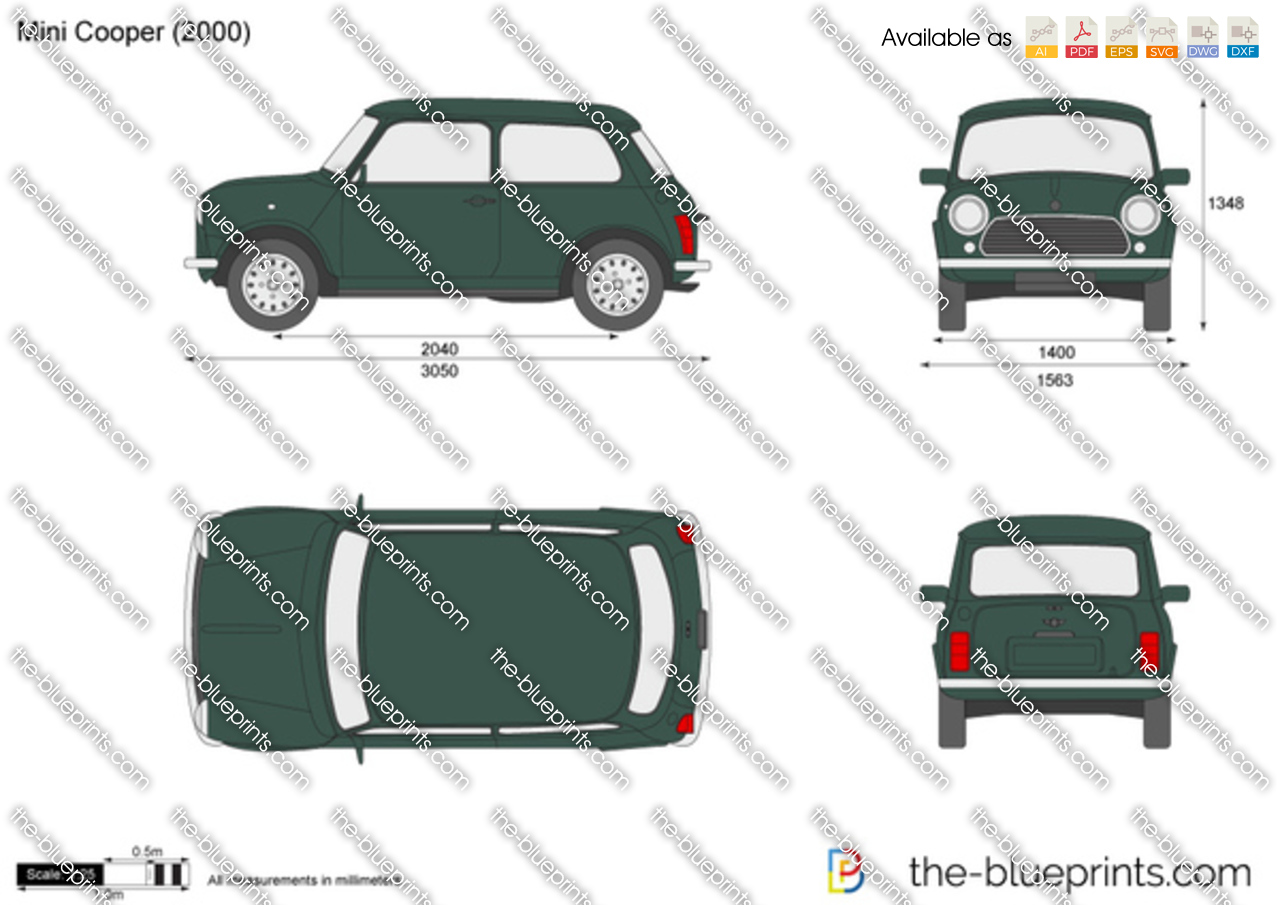 Mini Cooper Vector Drawing
