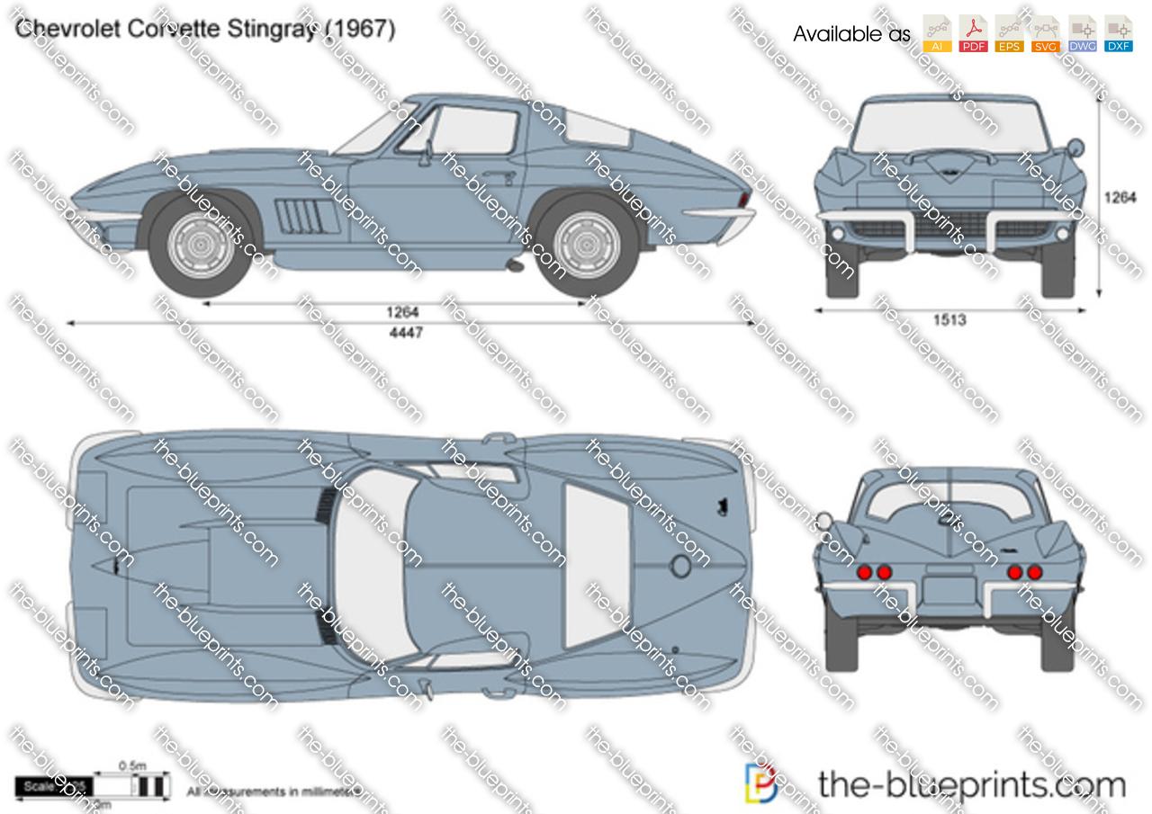 Chevrolet Corvette Stingray C2 Vector Drawing