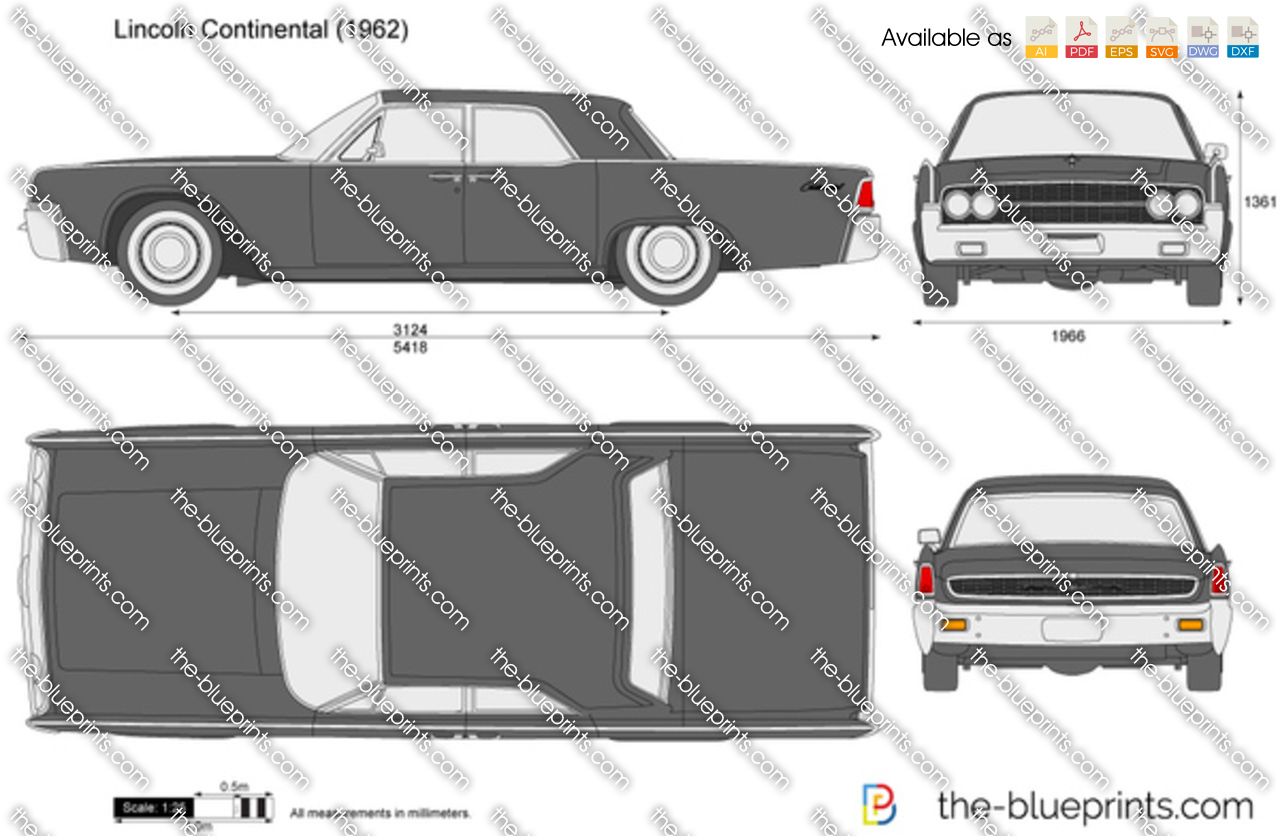 the vector drawing lincoln continental. Black Bedroom Furniture Sets. Home Design Ideas