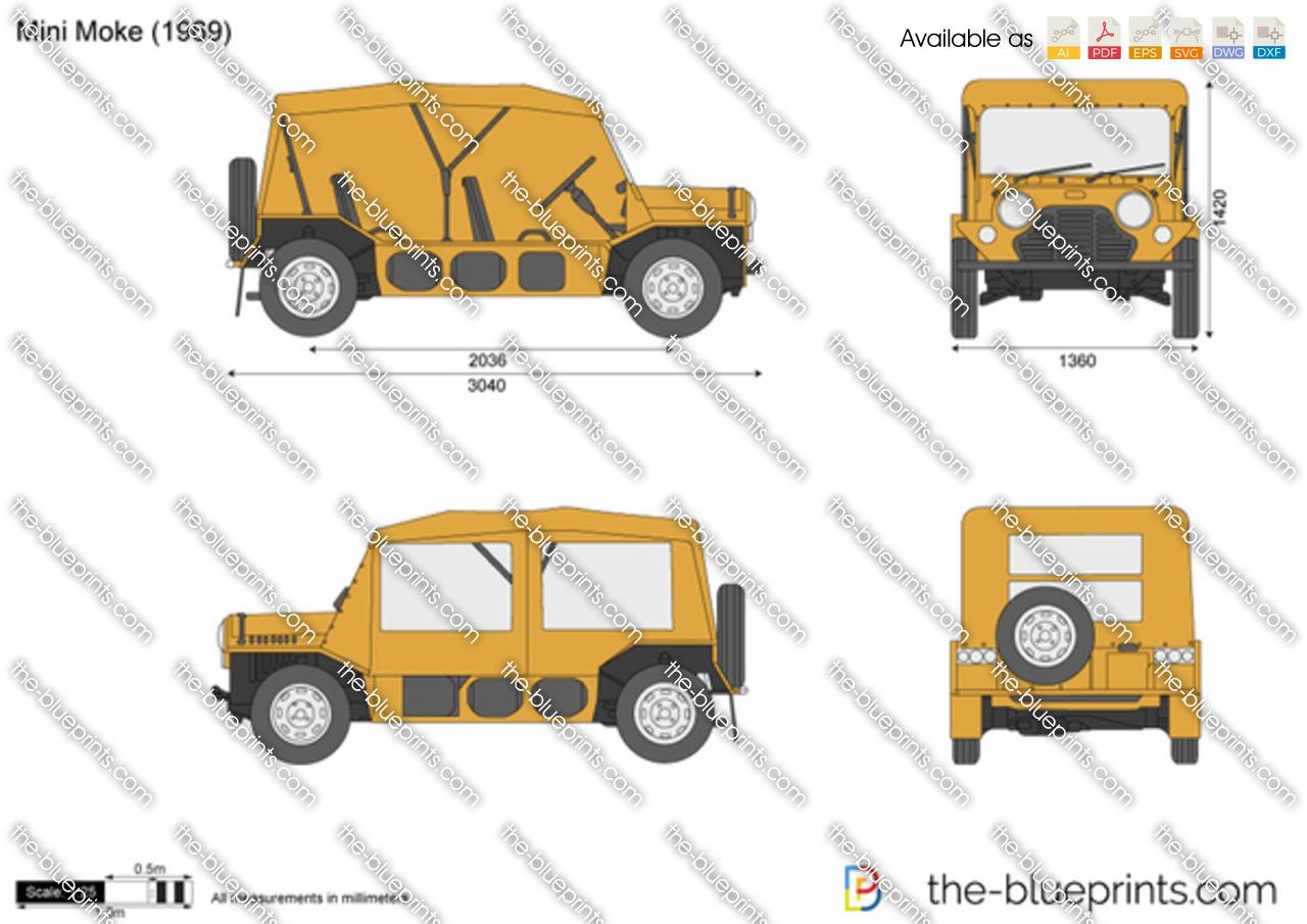 The Blueprints Com Vector Drawing Mini Moke