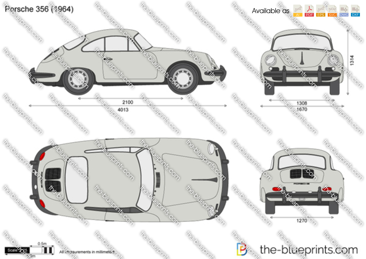 Porsche 356 Vector Drawing