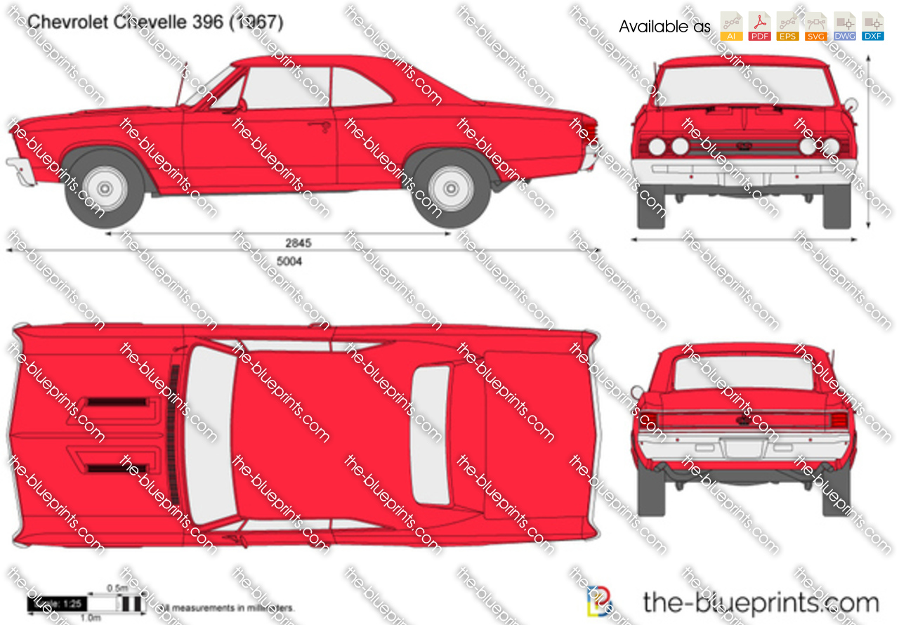 Chevrolet Chevelle Ss396 Vector Drawing 1966 Ss 396 For Sale