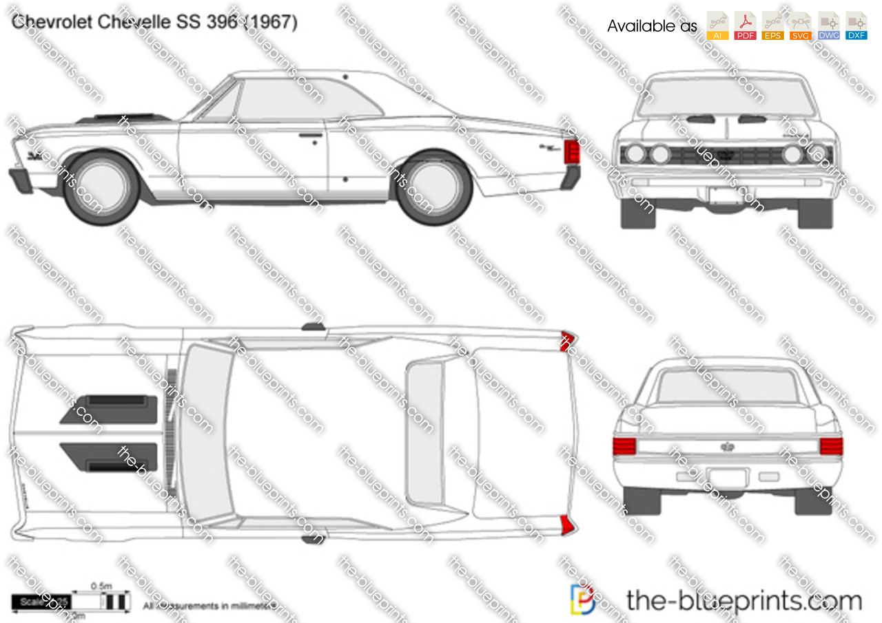chevrolet chevelle ss 396 vector drawing
