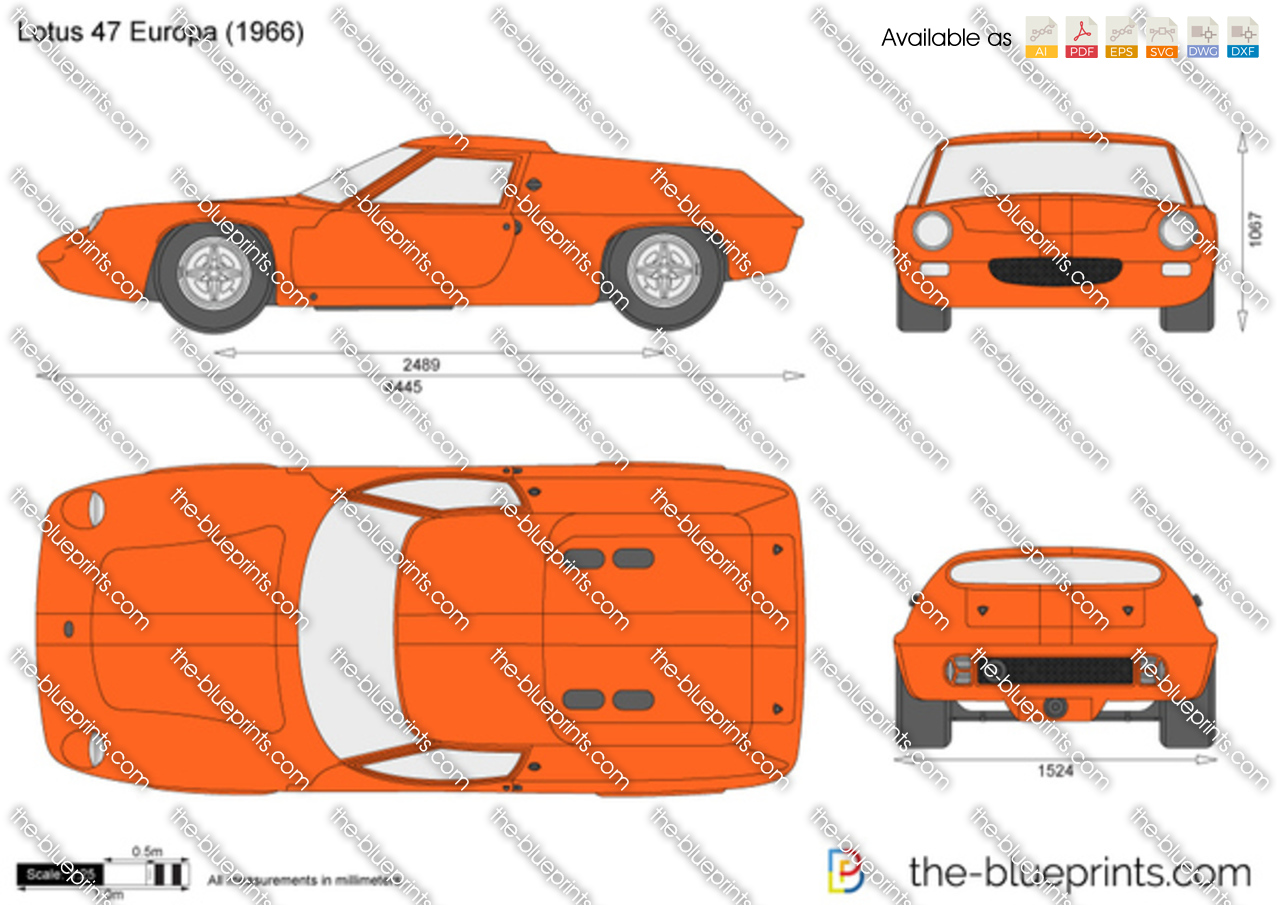 Lotus 47 Europa Vector Drawing