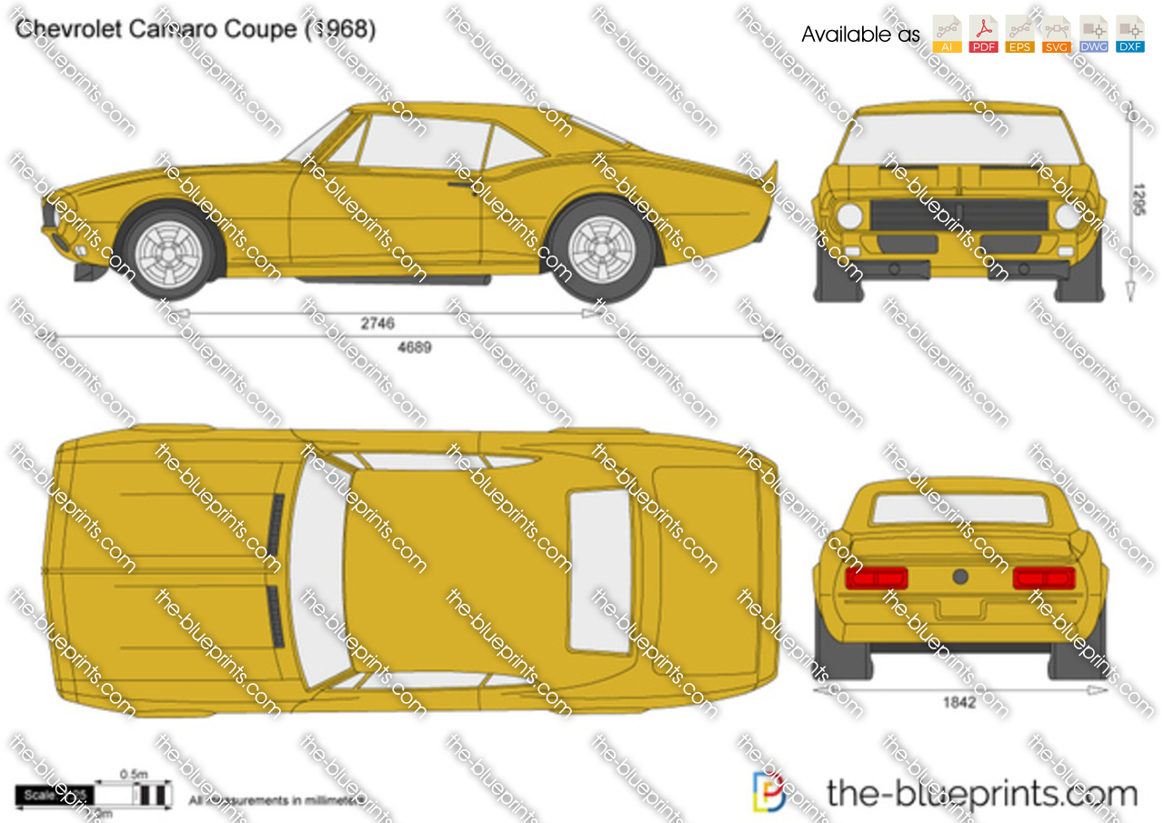 The Blueprints Com Vector Drawing Chevrolet Camaro Coupe
