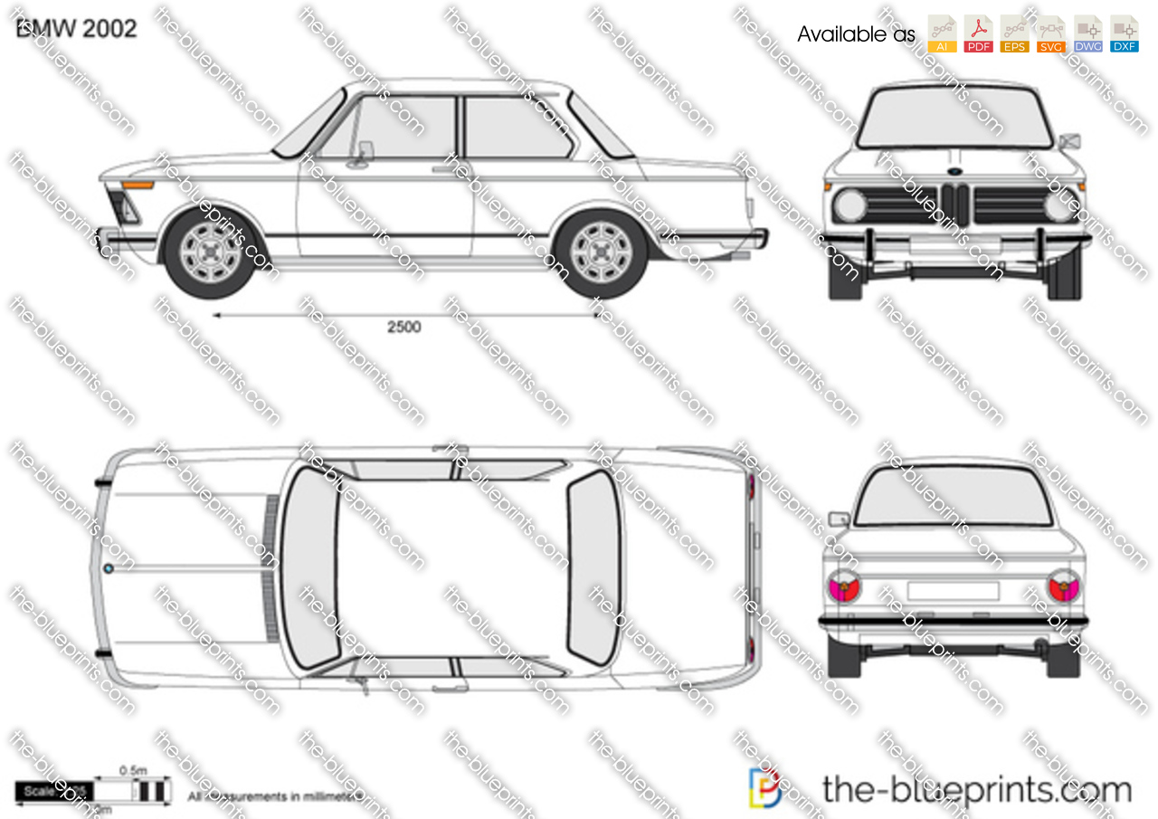Bmw 2002 Vector Drawing