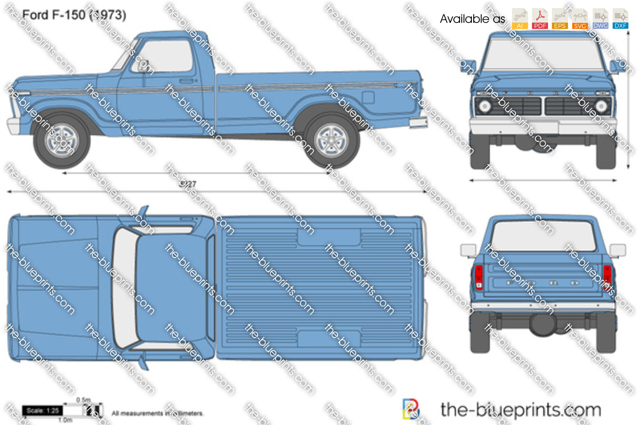 Ford F150 Crew Cab >> Ford F-150 vector drawing