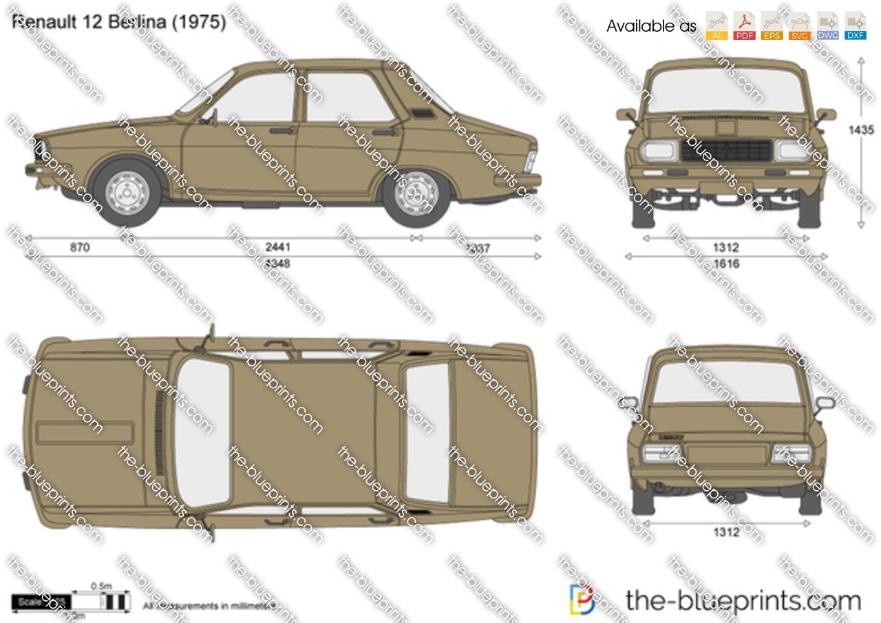 Ferrari 308 Gts For Sale >> Renault 12 Berlina vector drawing
