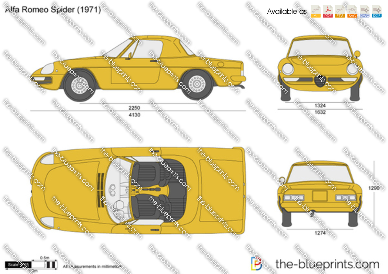 Alfa Romeo Spider Vector Drawing