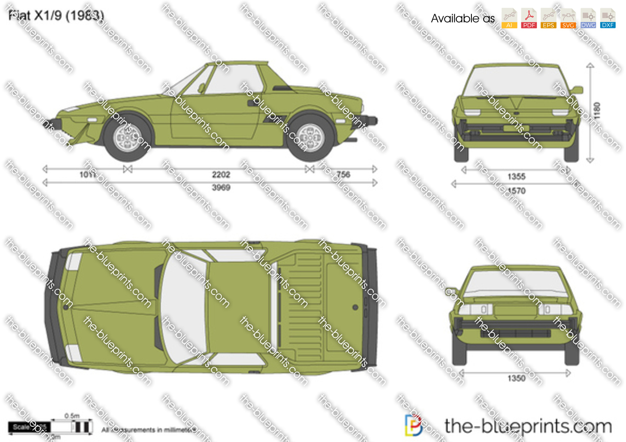 fiat x1 9 vector drawing. Black Bedroom Furniture Sets. Home Design Ideas