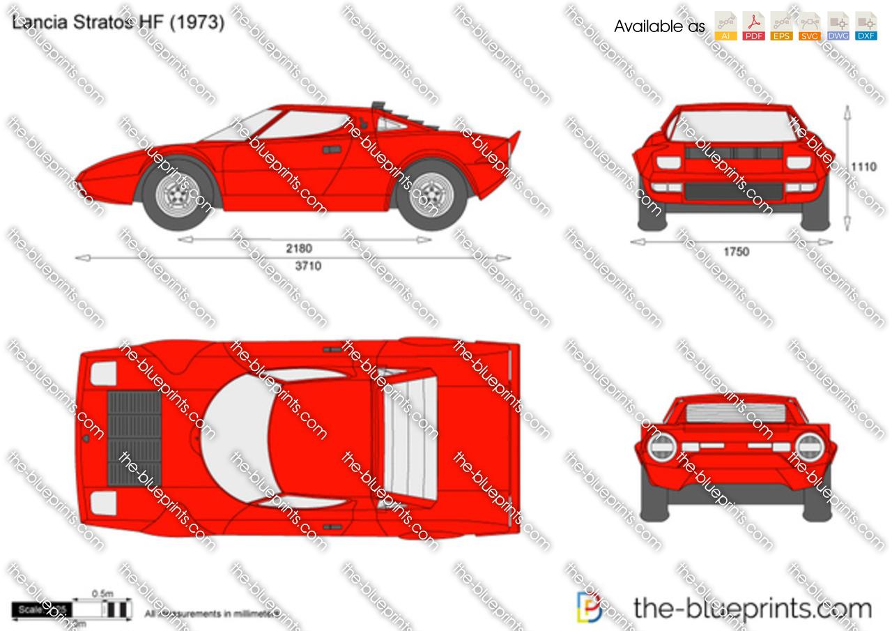 Lancia Stratos Hf Vector Drawing