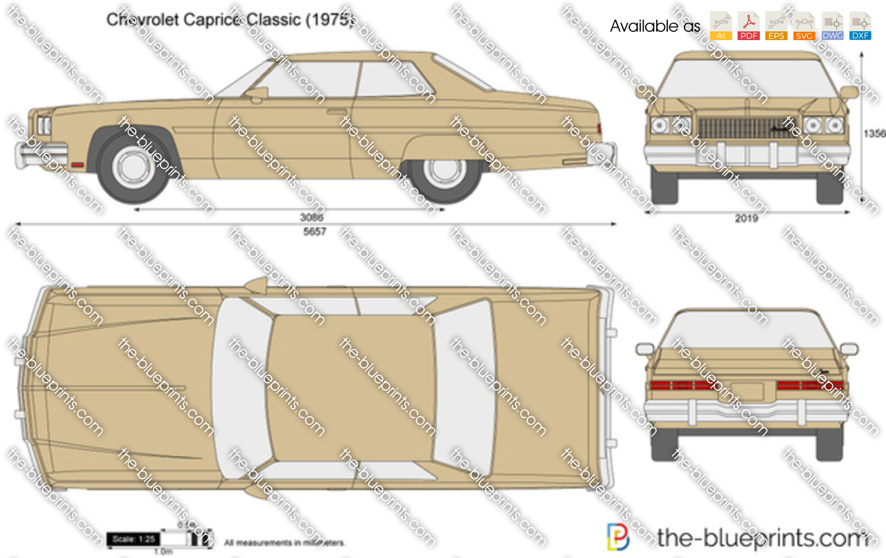 Chevrolet Caprice Classic Vector Drawing