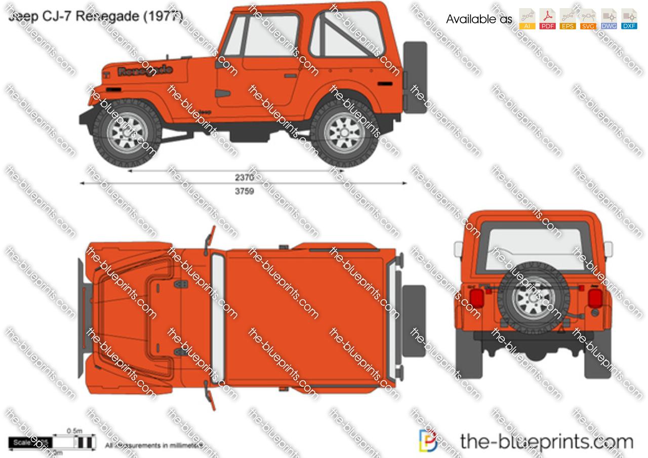 Jeep CJ-7 Renegade vector drawing