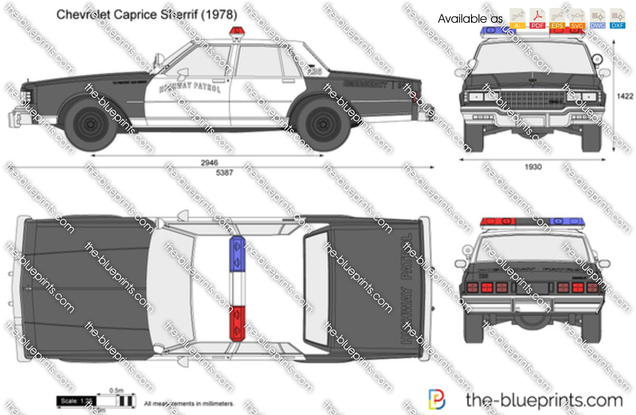 The blueprints vector drawing chevrolet caprice sherrif chevrolet caprice sherrif 9c1 police car malvernweather Image collections