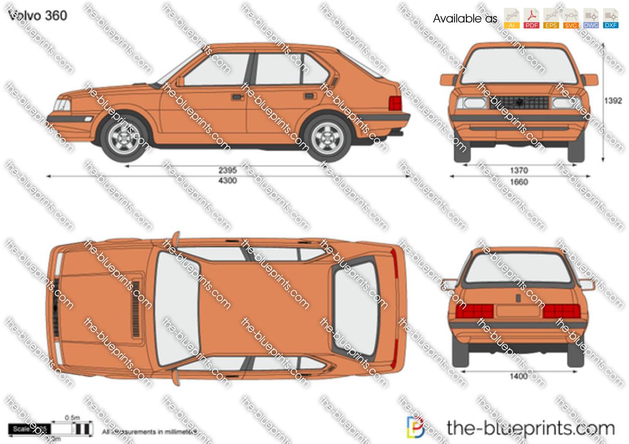 Volvo 360 vector drawing
