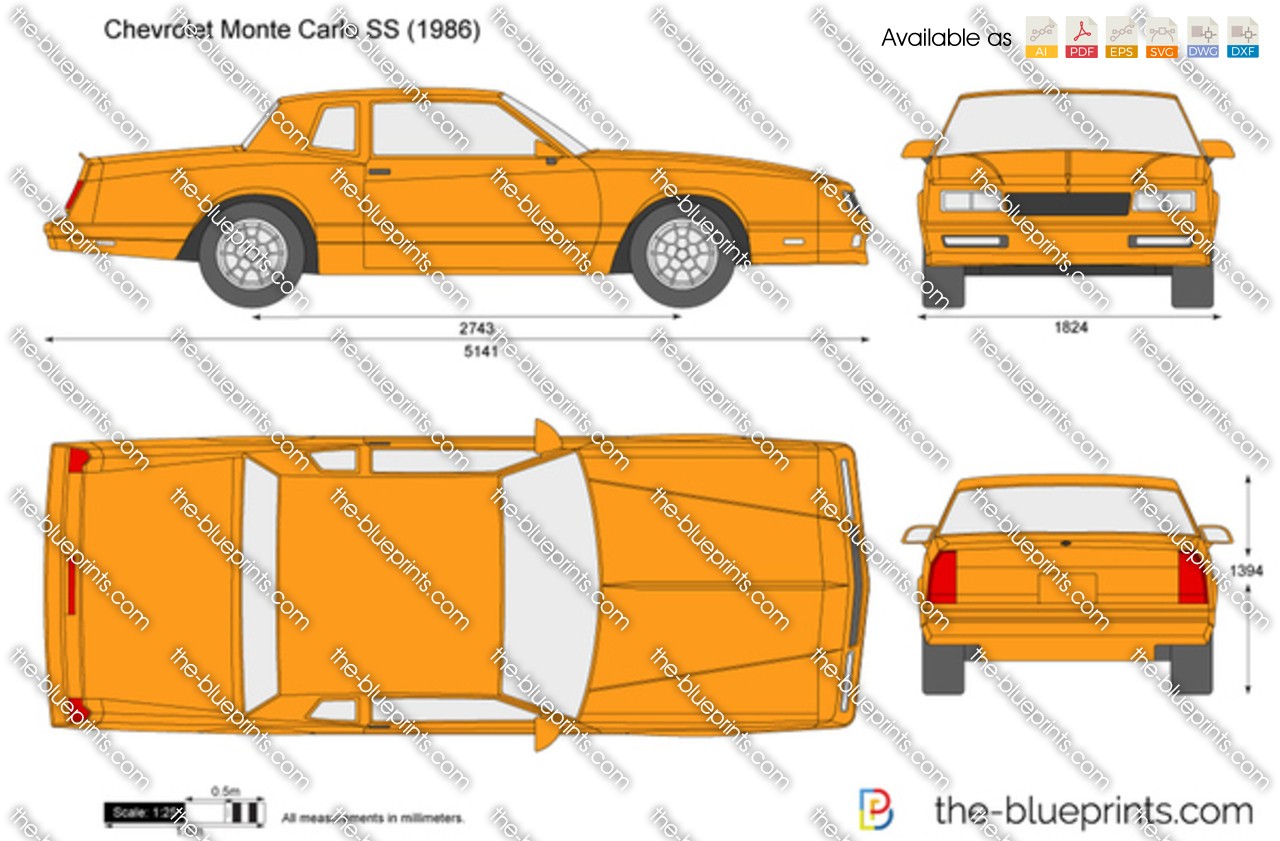 The blueprints com vector drawing chevrolet monte carlo ss