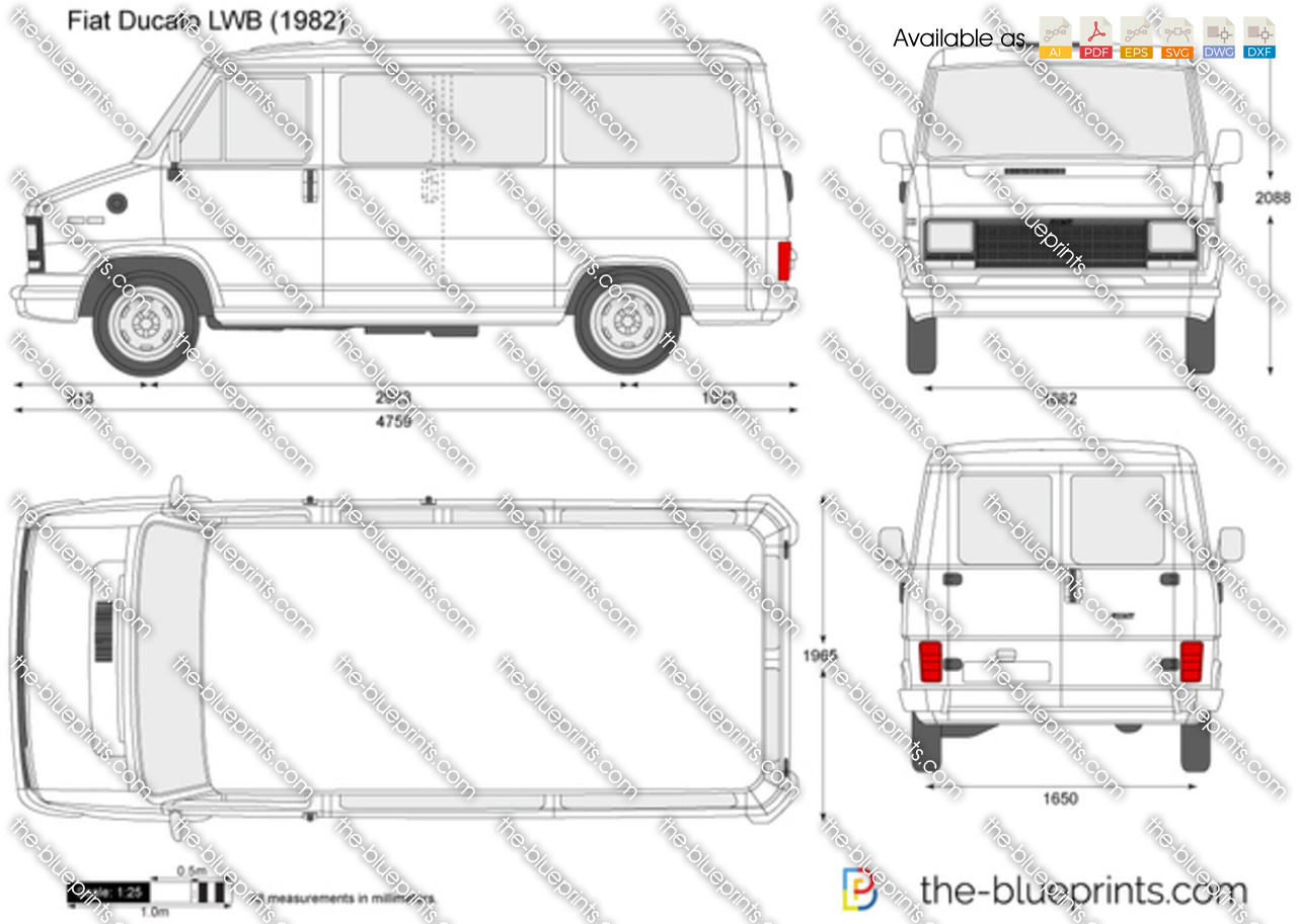 the vector drawing fiat ducato lwb. Black Bedroom Furniture Sets. Home Design Ideas