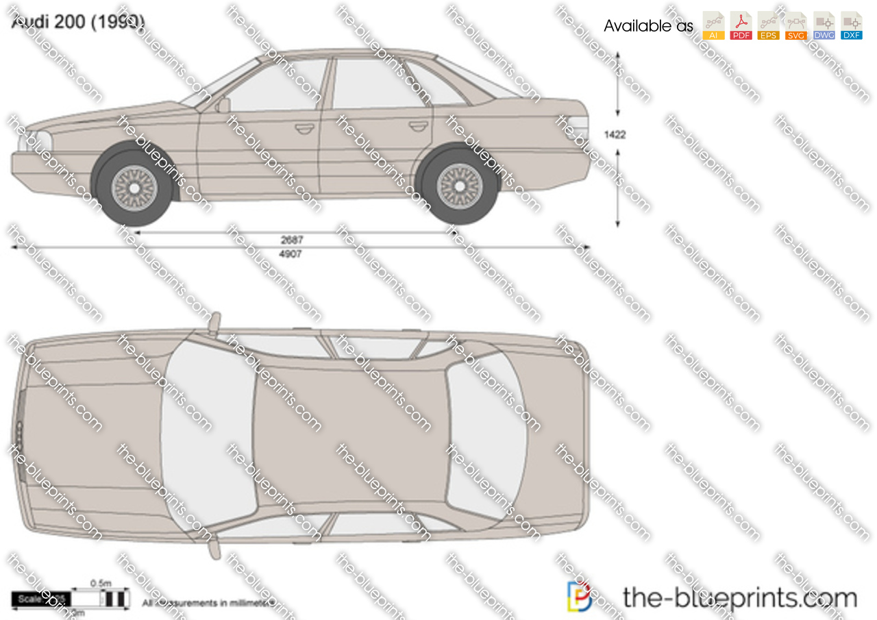The Blueprints Com Vector Drawing Audi 200