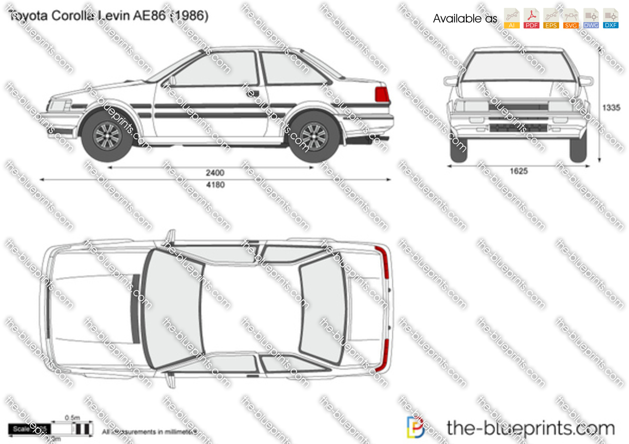 Toyota corolla levin ae86 vector drawing toyota corolla levin ae86 malvernweather Gallery