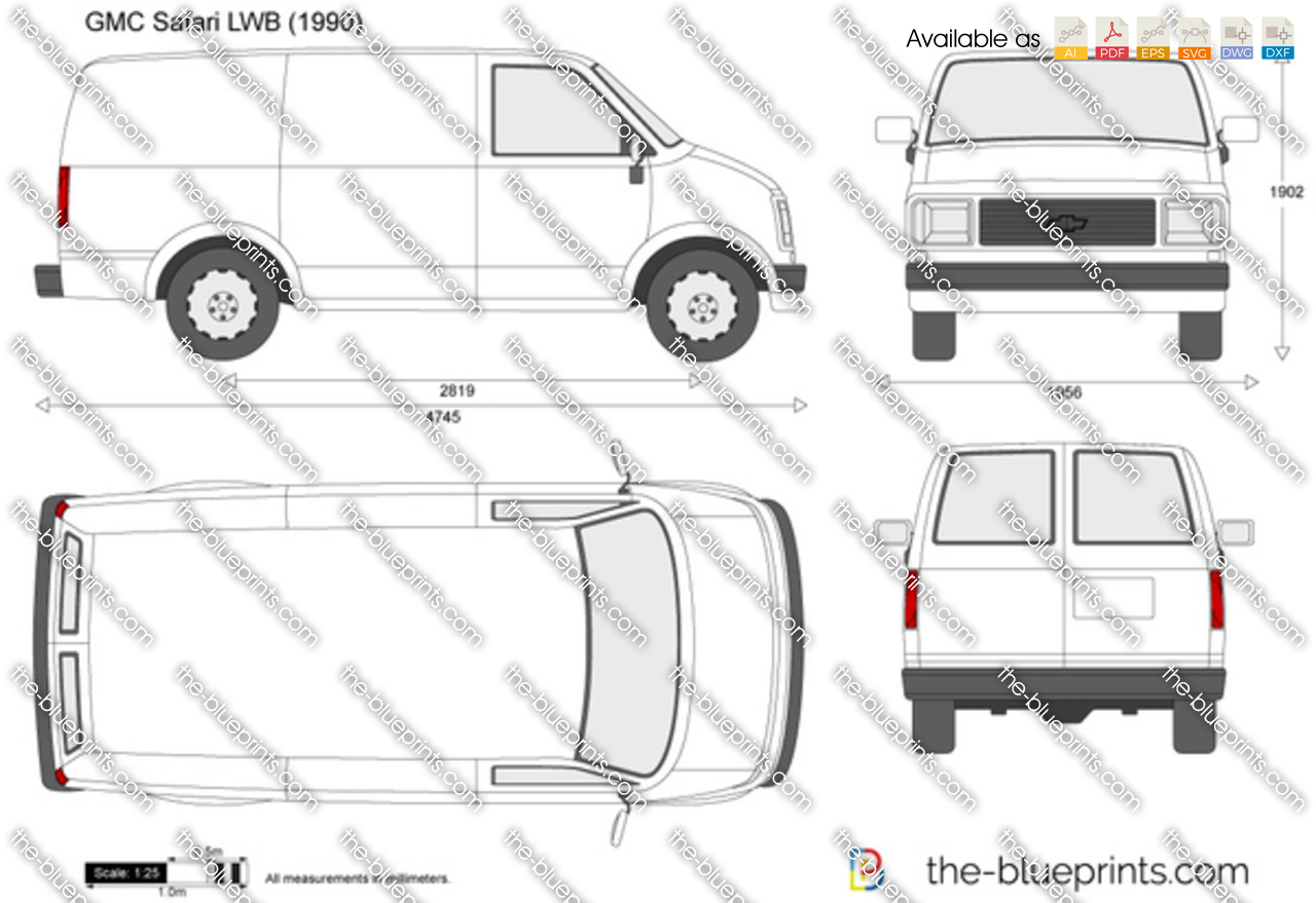 gmc safari lwb vector drawing rh the blueprints com 1986 GMC Safari Custom  1986 GMC Safari Custom