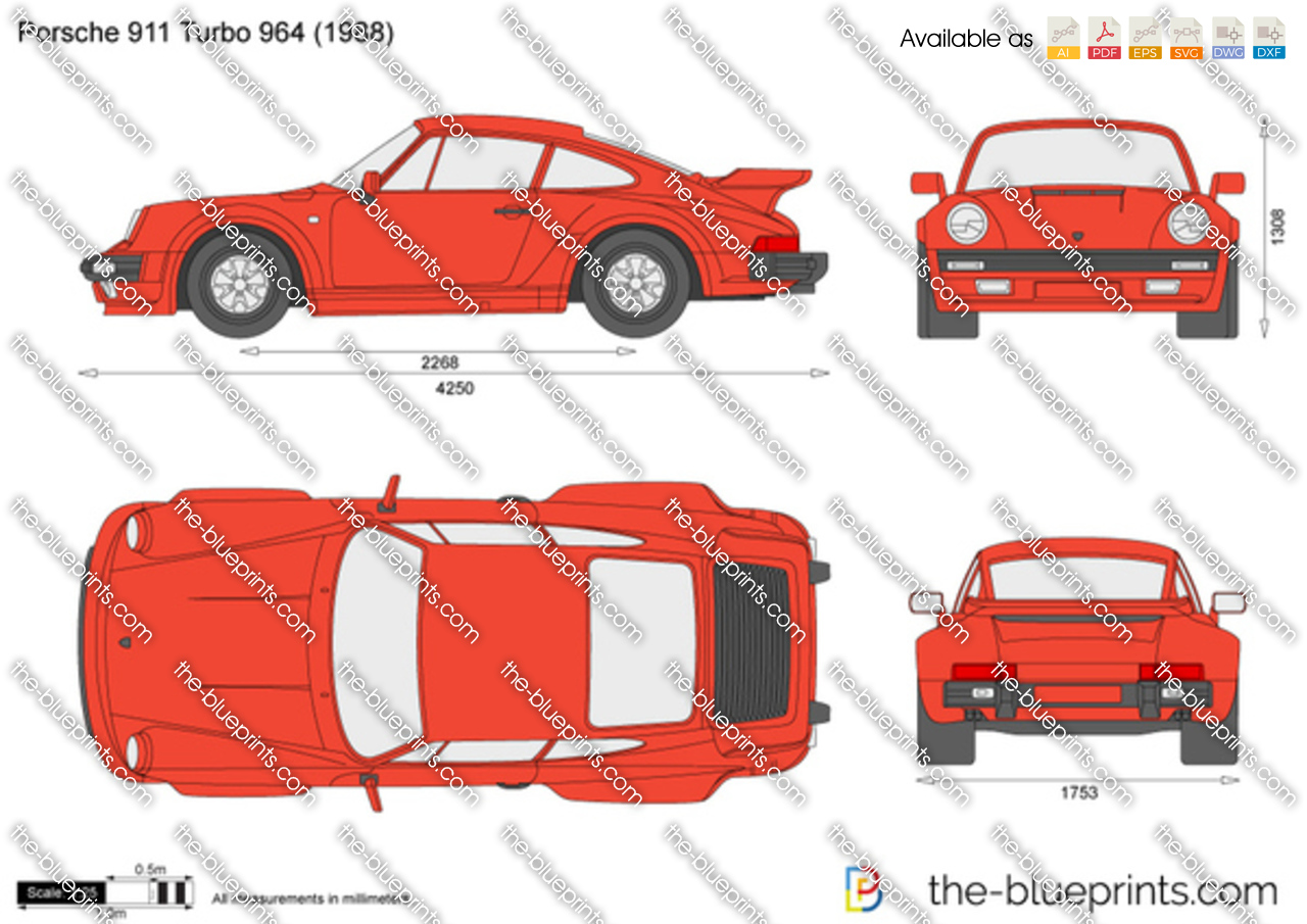 The blueprints vector drawing porsche 911 turbo 930 1985 porsche 911 turbo 930 vanachro Image collections