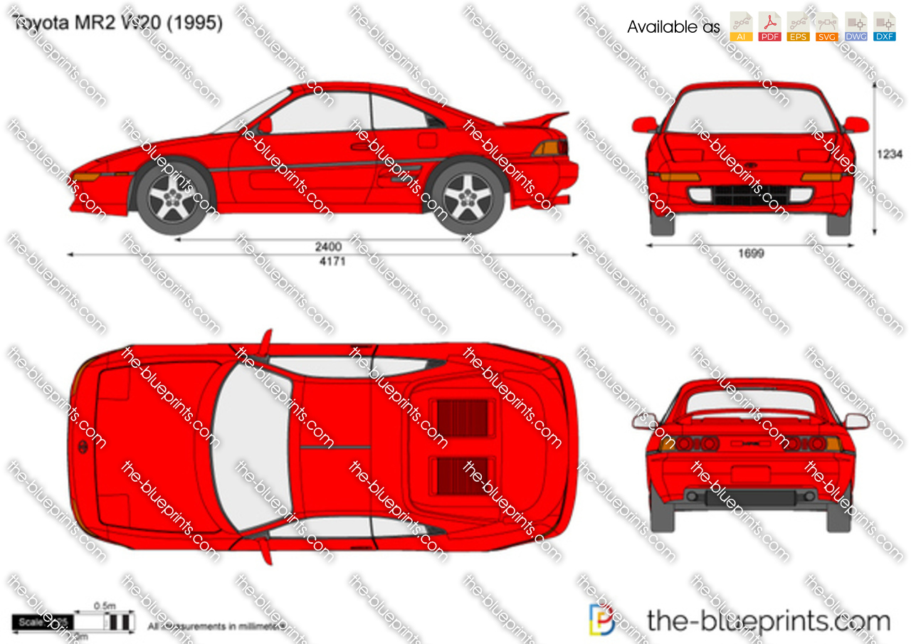 Toyota Mr2 Vector Drawing