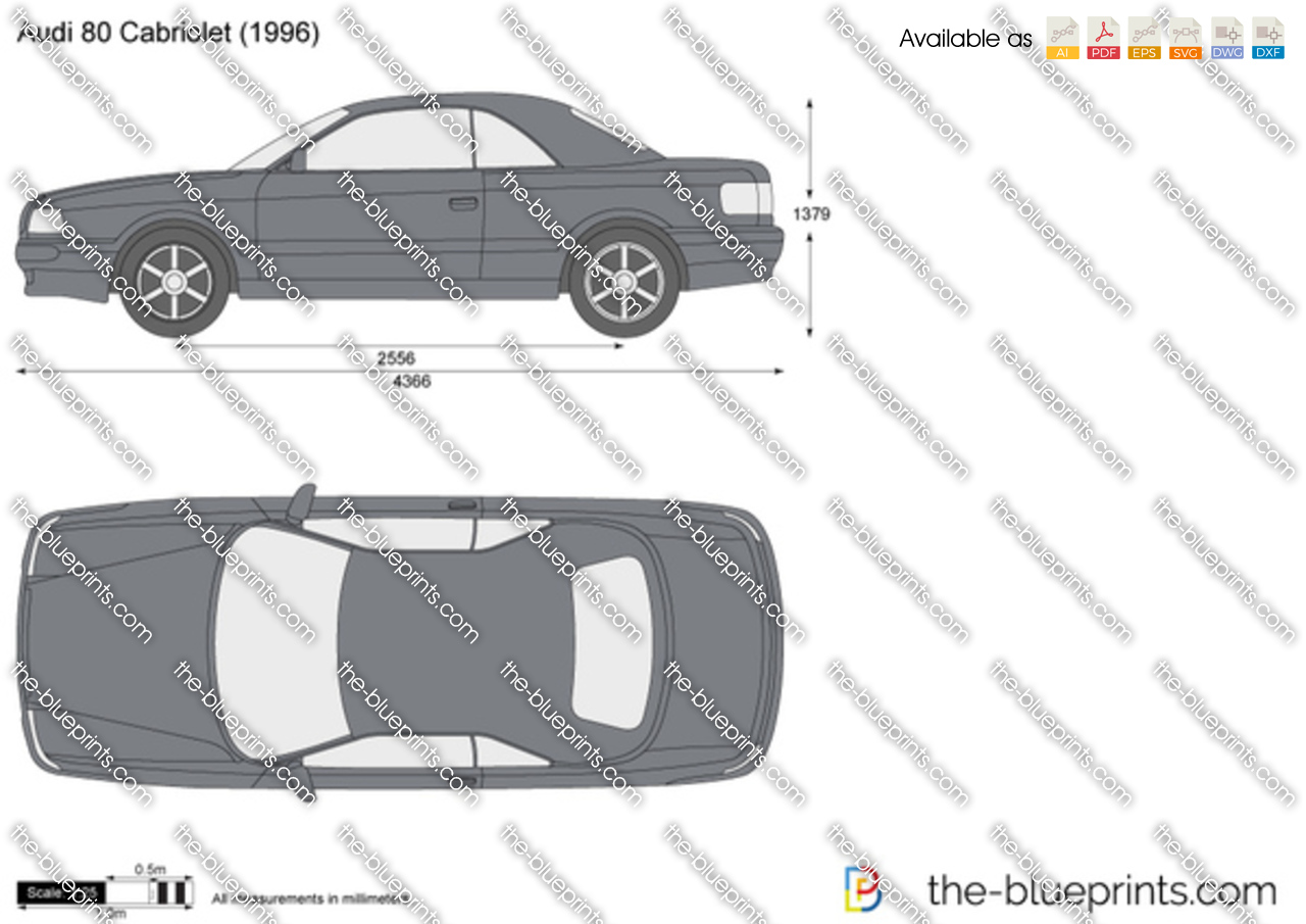 Chevrolet Avalanche For Sale >> Audi 80 Cabriolet vector drawing