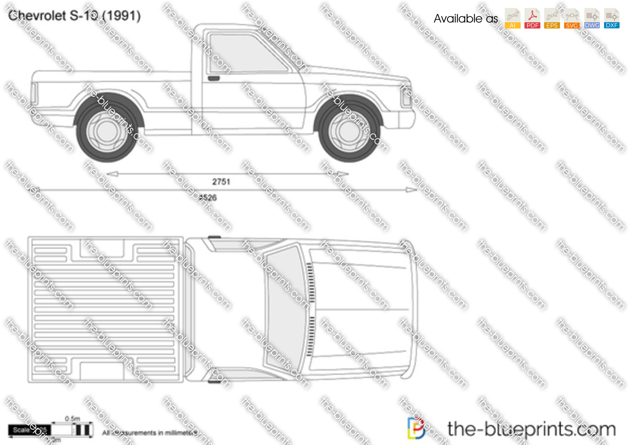 Chevrolet S 10 Vector Drawing