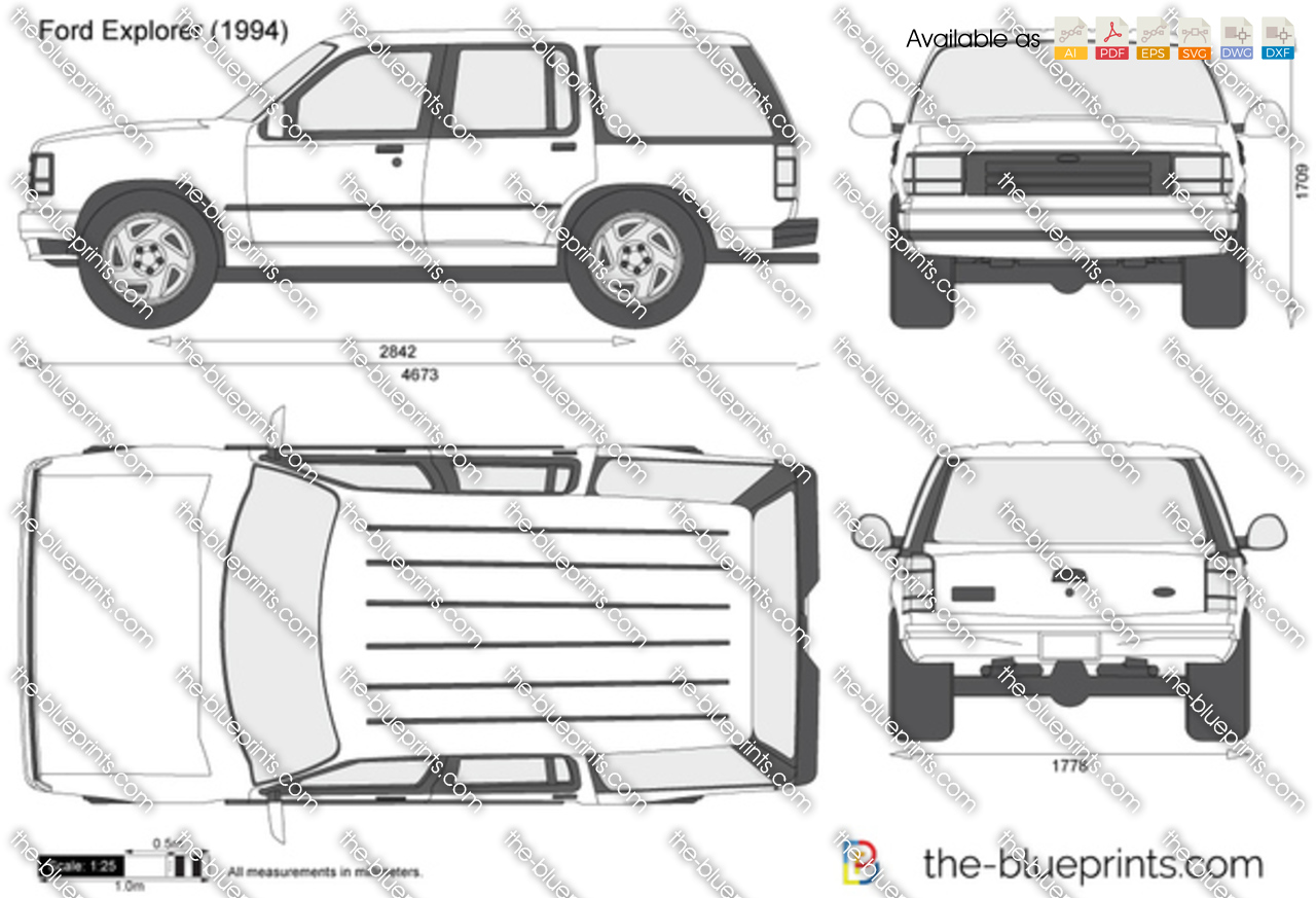 1991 Ford F250 >> Ford Explorer vector drawing