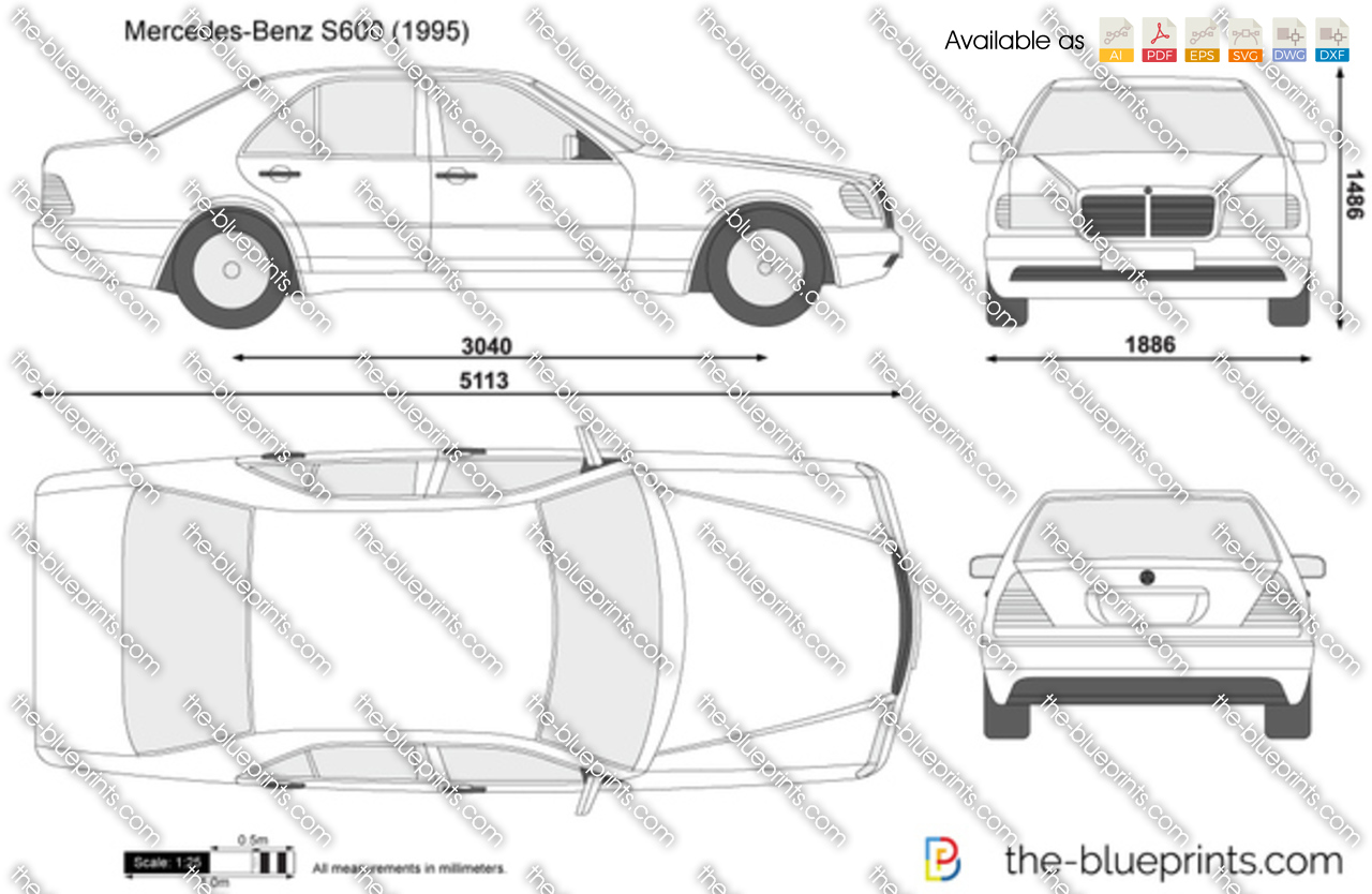 Jeep Patriot For Sale >> Mercedes-Benz S600 W140 vector drawing