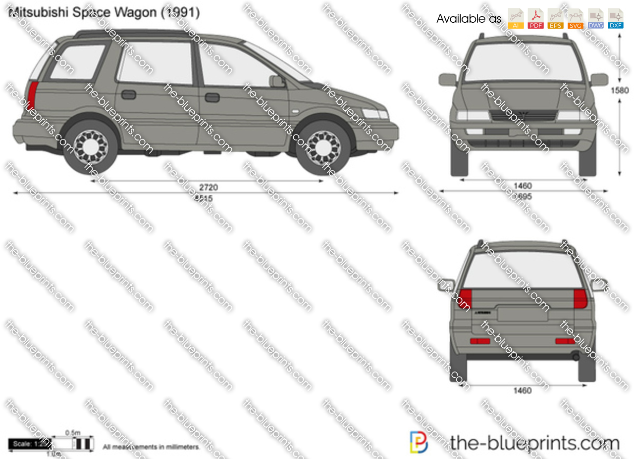 the vector drawing mitsubishi space wagon. Black Bedroom Furniture Sets. Home Design Ideas