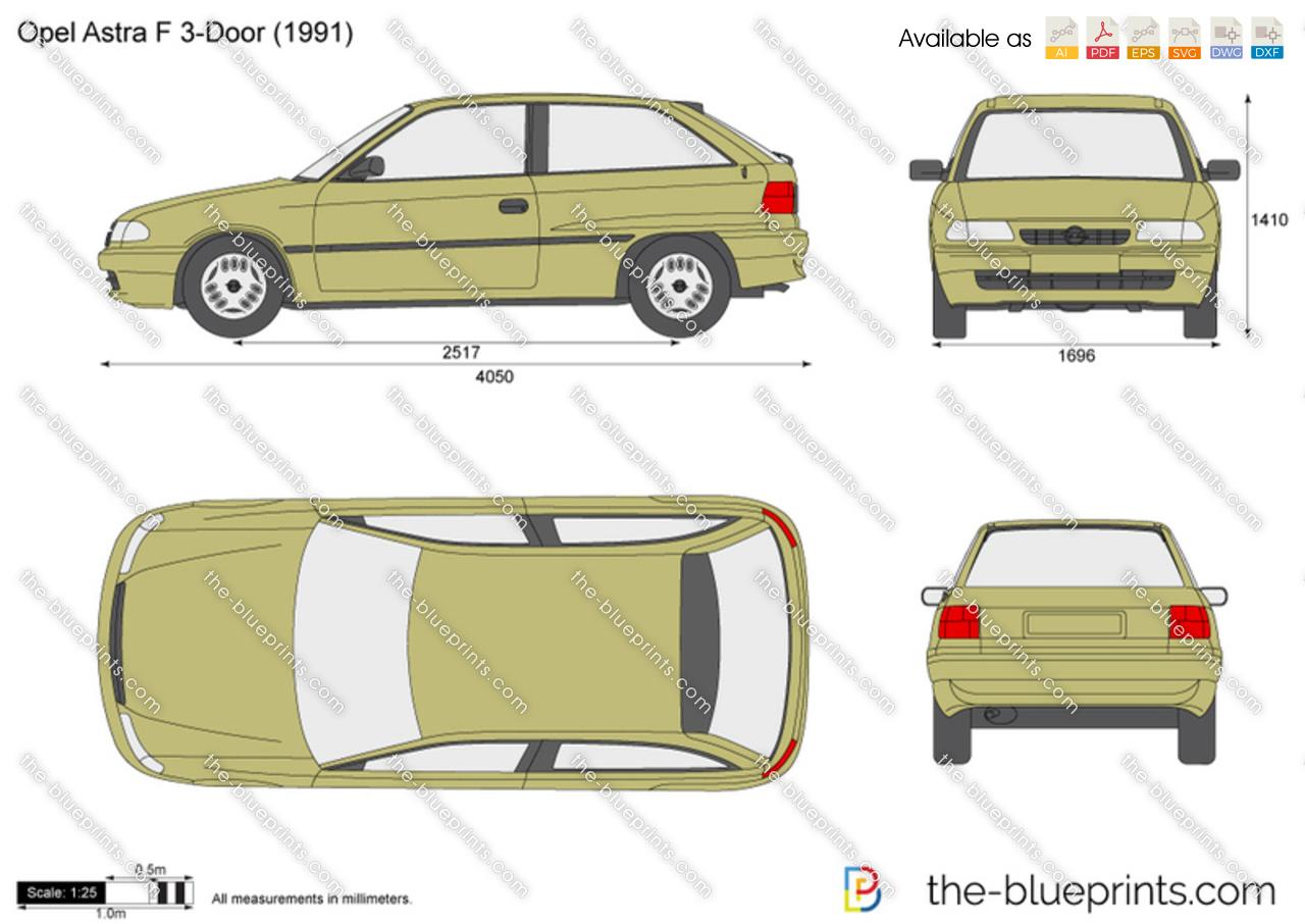 Opel Astra F 3-Door ...  sc 1 st  The-Blueprints.com & The-Blueprints.com - Vector Drawing - Opel Astra F 3-Door pezcame.com