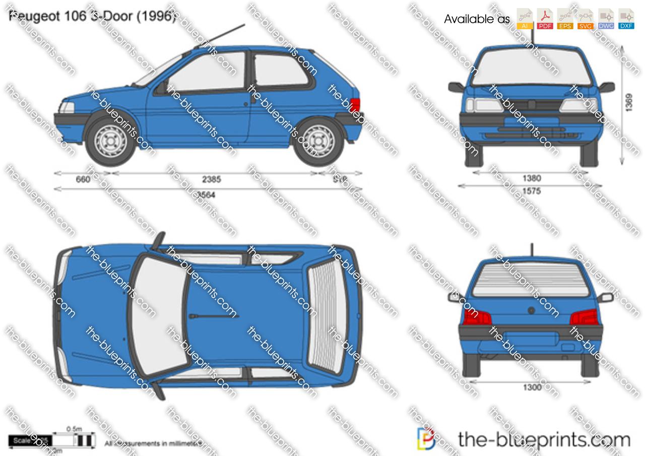 The Blueprints Com Vector Drawing Peugeot 106 3 Door