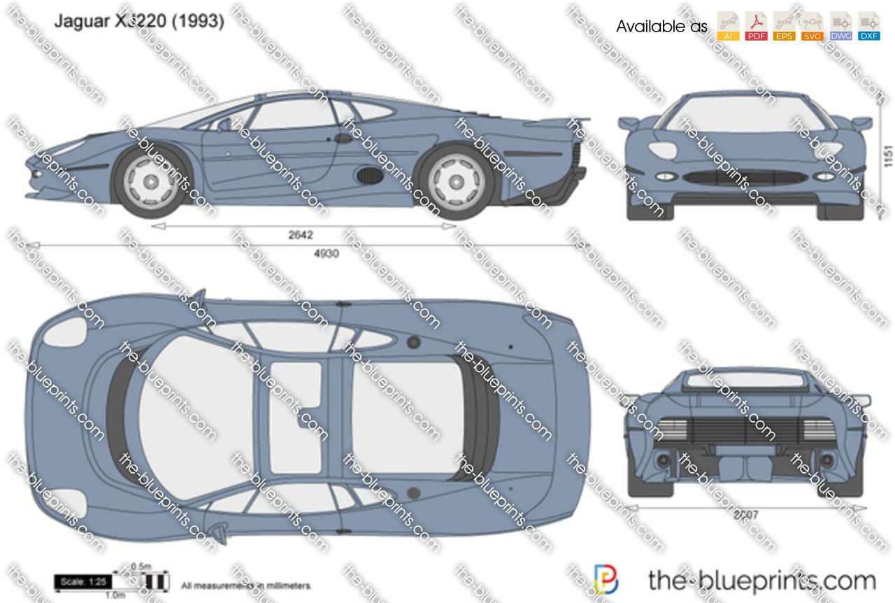 Jaguar Xj220 For Sale >> The-Blueprints.com - Vector Drawing - Jaguar XJ220